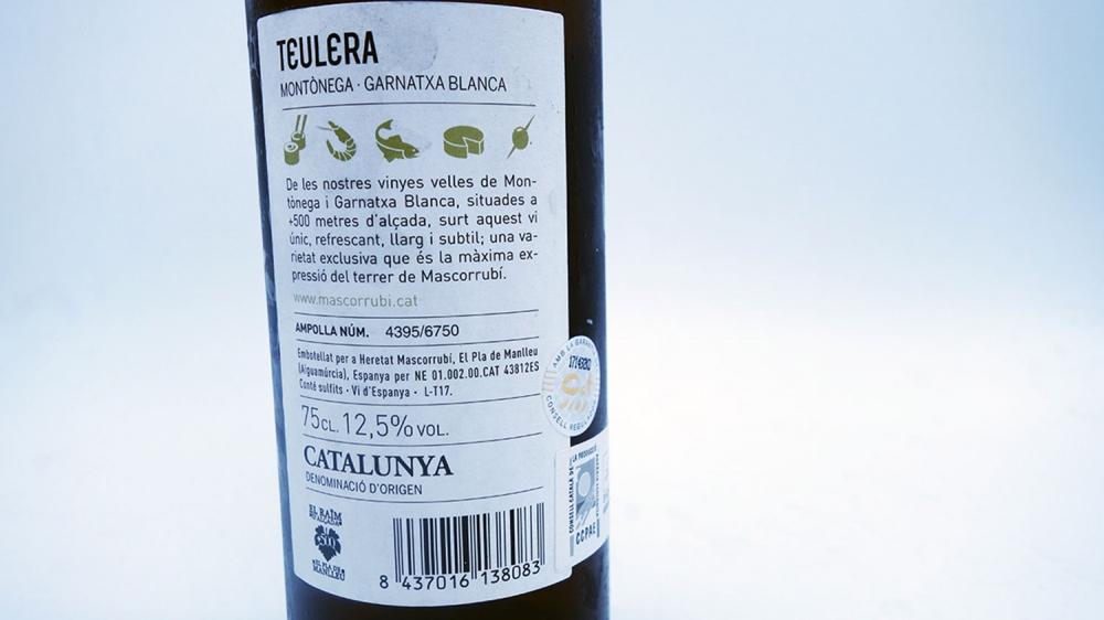 Teulera Blanc 2017 Mascorubi Heretat 1927 Catalunya 04